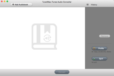 interface of Tune4Mac iTunes Audio Converter