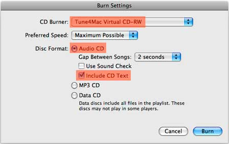 tune4mac virtual cd burner