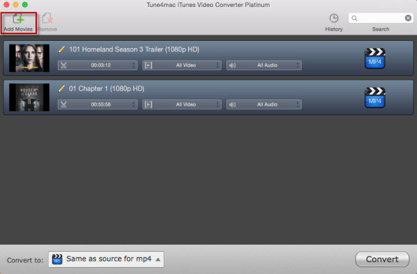 step-by-step tutorial of iTunes Video Converter Platinum