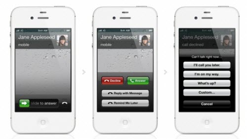 phone function of apple ios 6