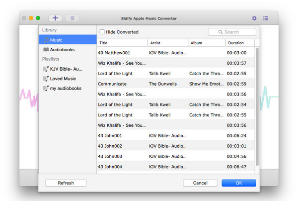 Add Music files to convert