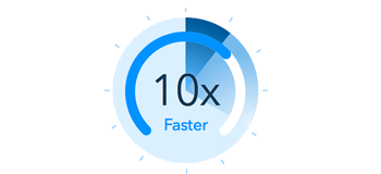 10X faster conversion speed
