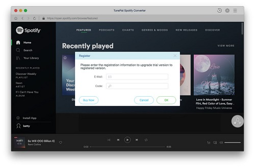 How to register Spotify Audio Converter Platinum