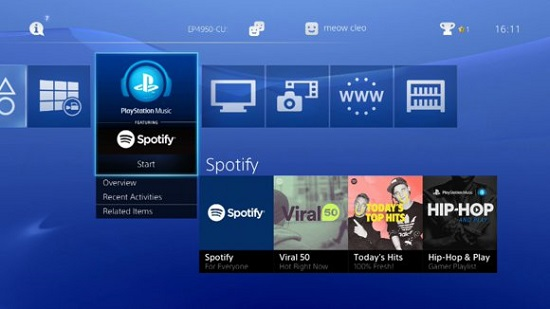 Play Spotify on PS4